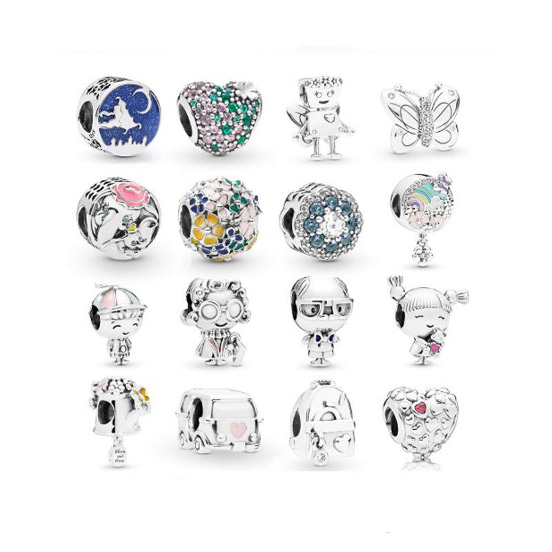 For Pandora Charm Beads Metal Beads For Women European Charm Bracelet Alloy Enamel Fashion Charms Jewelry
