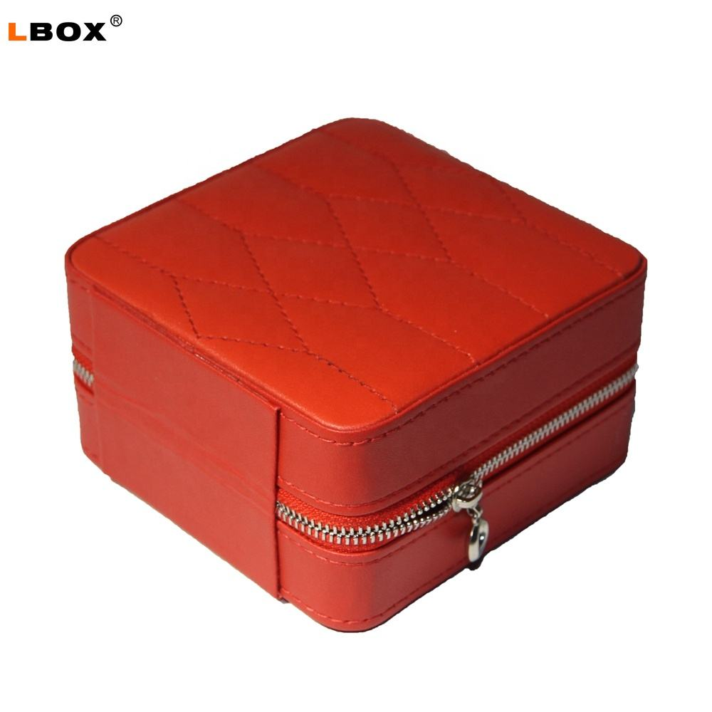 Wholesale Personalized Ring Necklace Storage Travel Carry Jewelry Box For Women LG7141