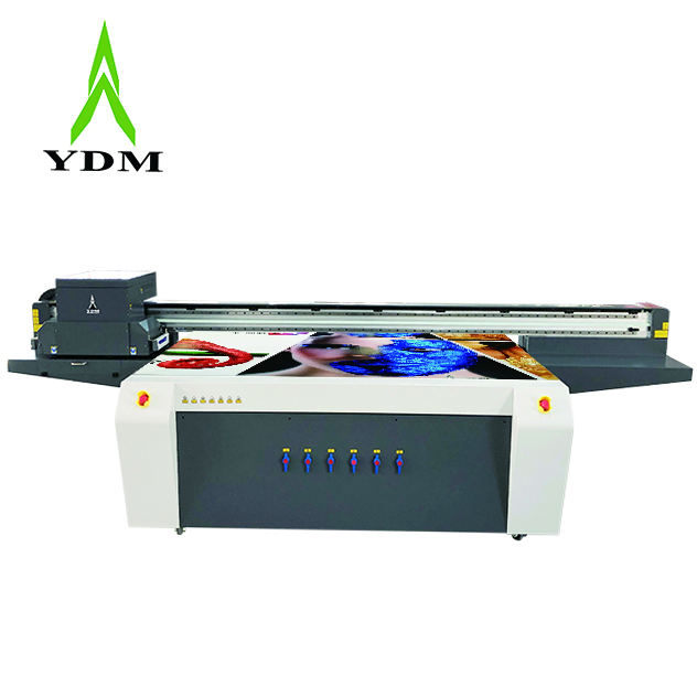 250*130Cm I3200 Grote Pallet Uv Flatbed Printer Op Glas Acryl Metalen <span class=keywords><strong>Oppervlak</strong></span>