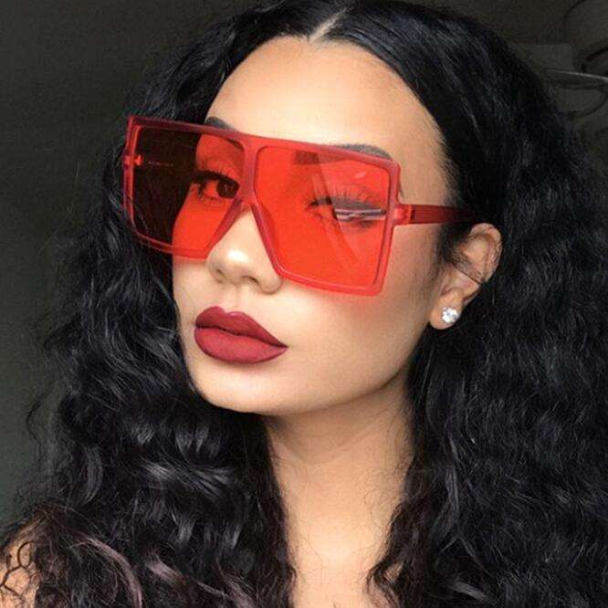 Qmoon Sunglasses Women Oversized Vintage Shades Sun Glasses Square 2019 For Women Female Lady Sunglass UV400