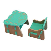 Eco-friendly cute children's furniture plastic kids table and chair set