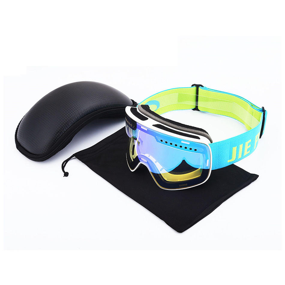 Wholesale fashion cylinder snowboard goggles skiing googles custom logo magnet anti-fog snow glasses frameless ski goggles strap