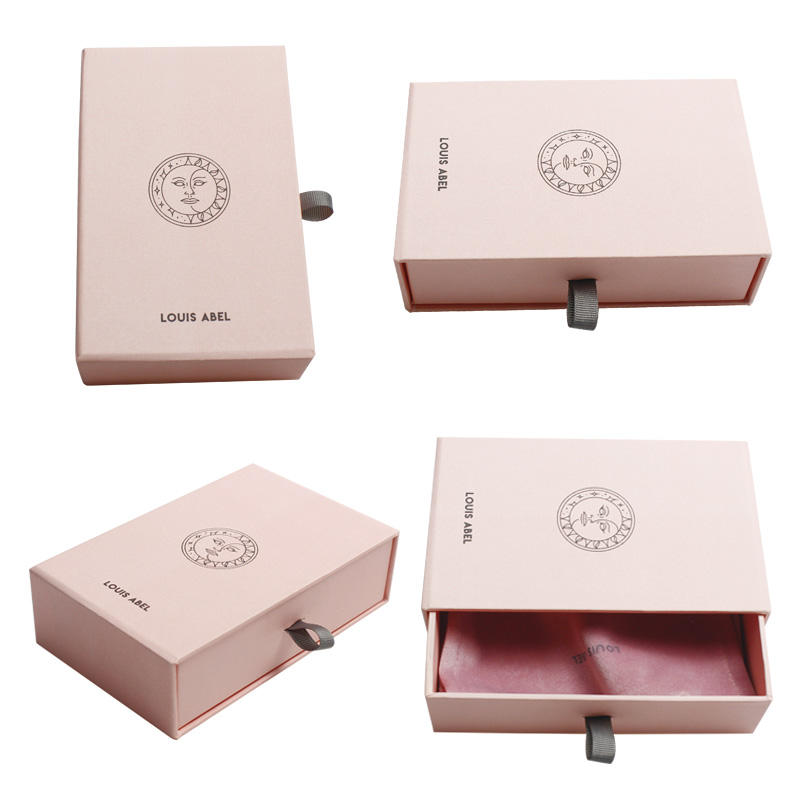 Custom Paper Jewelry Packaging Made With 2mm Rigid Cardboard Gift Drawer Boxes Bracelet Match Boxes