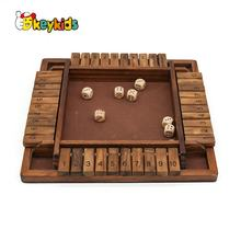 Math board game wooden Shut The Box Dice Games for kids W11A113
