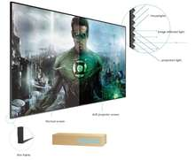 120 inch 16:9 format  UST Short Throw Laser Projector ALR Ambient Light Lenticular 4K home cinema  Projection  Screen