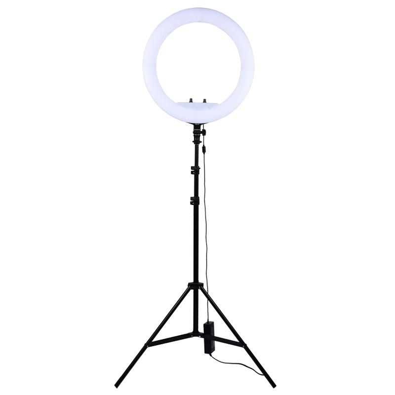 18 Inch Selfie Ring Light Dimmable with Tripod Stand Cell Phone Holder Mini Led Camera Ringlight For Live Streaming Makeup Video