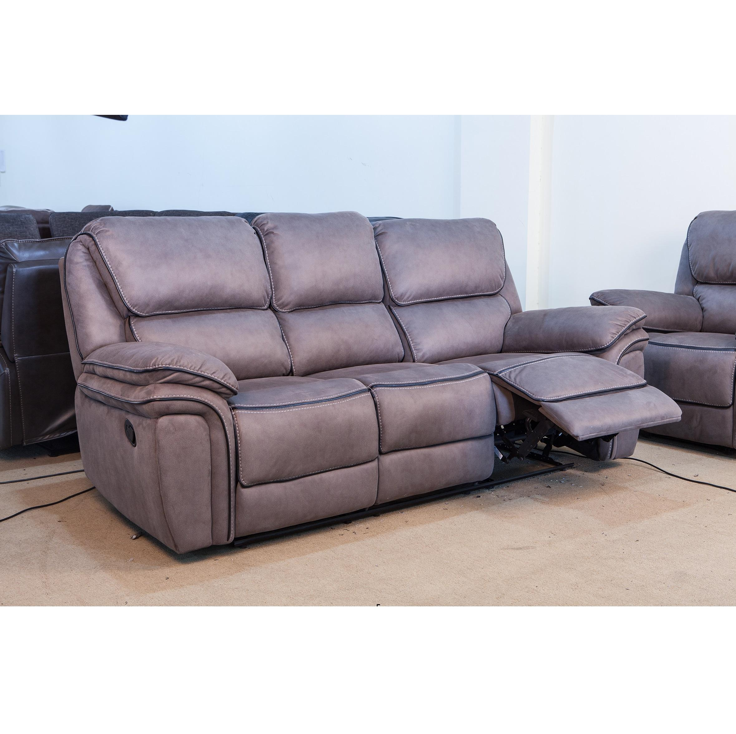 European style Home Furniture 1+2+3 soft fabric Recliner Sofa