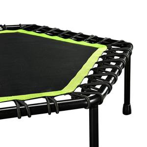 Adult Indoor Bungee Cord Jumping Rebounder Gymnastic Fitness Mini Hexagon Trampoline with Handle
