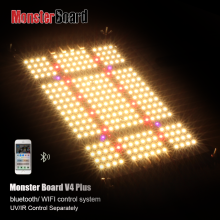 monster board v4 plus cree 660nm DIY Kit 3000K Full Spectrum led grow light kit with heatsink lg uv cree ir switch