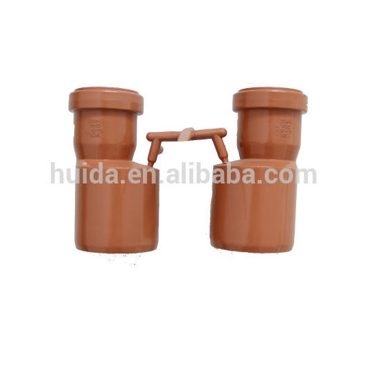 2 Cavities PVC Belling Collapsible Reducer Pipe Fitting Mould