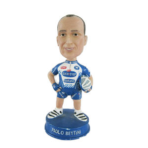 Champion italien de course cycliste Jouet Paolo Bettini Bobble Tête Figurine