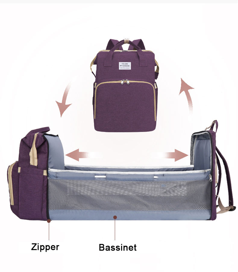 Multi-Function Foldable Bassinet Travel Baby Bed Diaper Bag For Sleeping