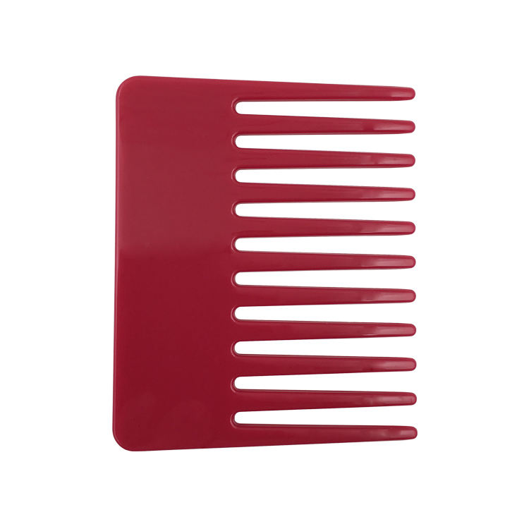 Easy to Carry Common Small Flat Top Wide Tooth Plastic Hair Comb
