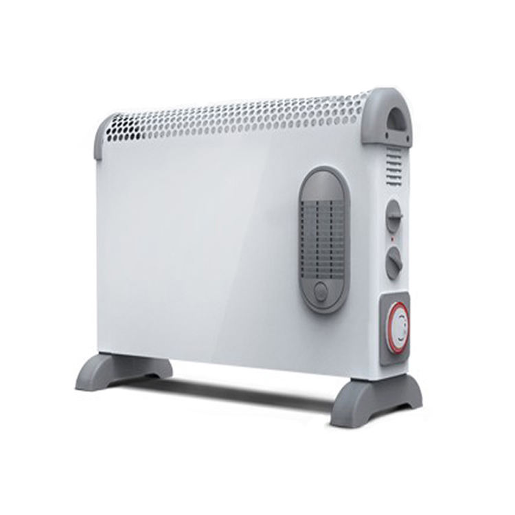 Electric convector heater with timer and turbo fan