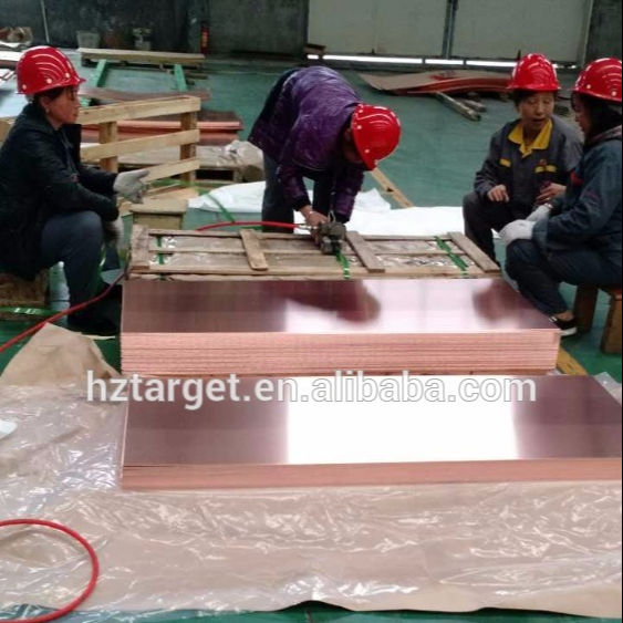 High Quality 4'' x 8'' Copper Sheet Price