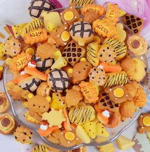 Oreo Cookie Cabochon 10pcs Flatback DIY Embellishments Artificial Food Design
