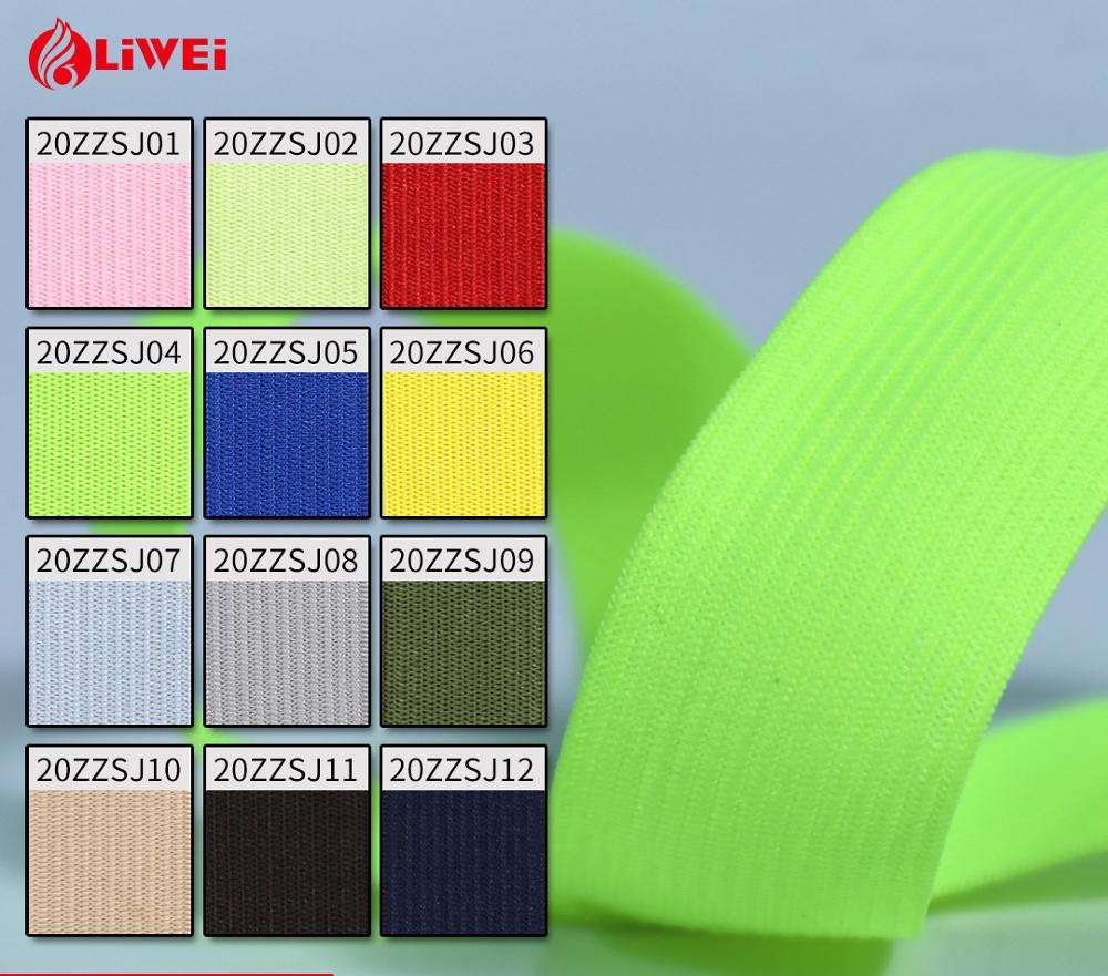 Custom cheap price 25mm stretch fitness exercise knitting elastic band