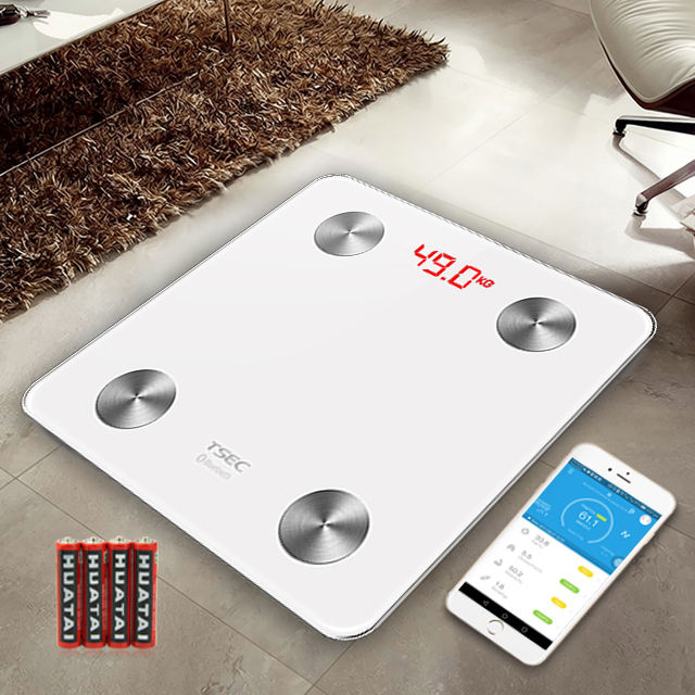 Bluetooth Smart Scale Scala di Grasso Corporeo con APP di Fitness & Body Composizione Monitor con Ampio Display Supplementare