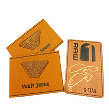 custom color PU Material Leather patches label for Jeans/Bags/Hat