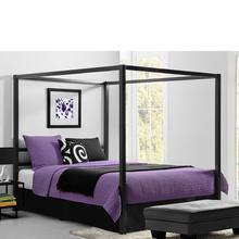 China supplier DHP modern sturdy metal frame classic design canopy bed with curtains