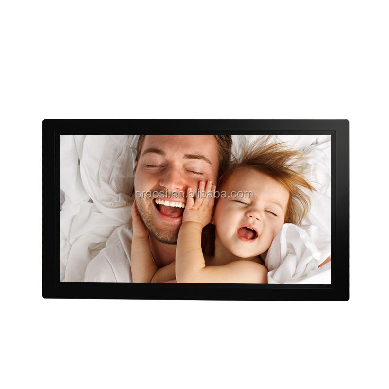 High Quality Wall Mount Large Lcd IPS Panel Advertising Monitor 1920x1080 Video Loop Digital Photo Frame 23 24 27 30 32 Inch