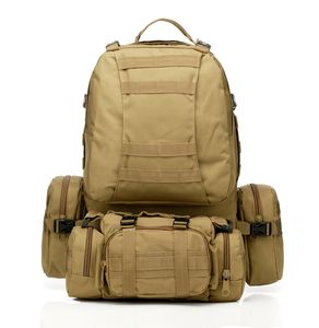 waterproof tan military tactical backpack hiking camping back pack army bag molle system