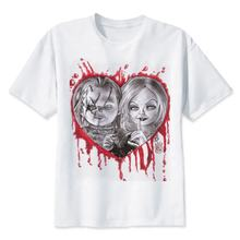 Men High Quality Cool Chucky T Shirt  Casual Horror Tshirt Chucky Print O-Neck Male Clothing Wholesale