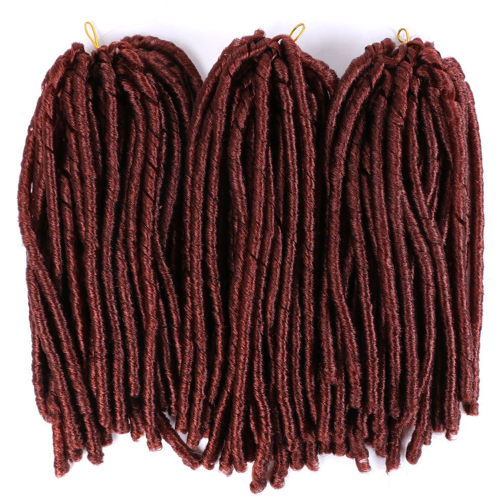 "Wholesale Nina Softex Dread Locks Crochet Braids Hair Extension Synthetic Premium Fiber 14"" 70g/pack"