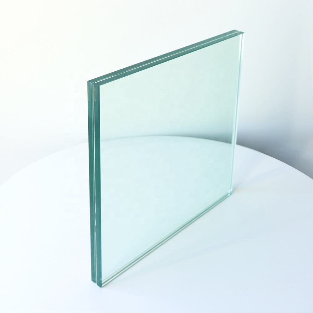 10mm 12mm clear fire proof safety laminated glass for door window