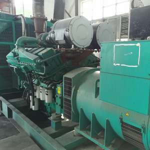 USED AKSA DIESEL GENERATOR 1000KVA 800KW WITH CUMMINS ENGINE KTA38-G5