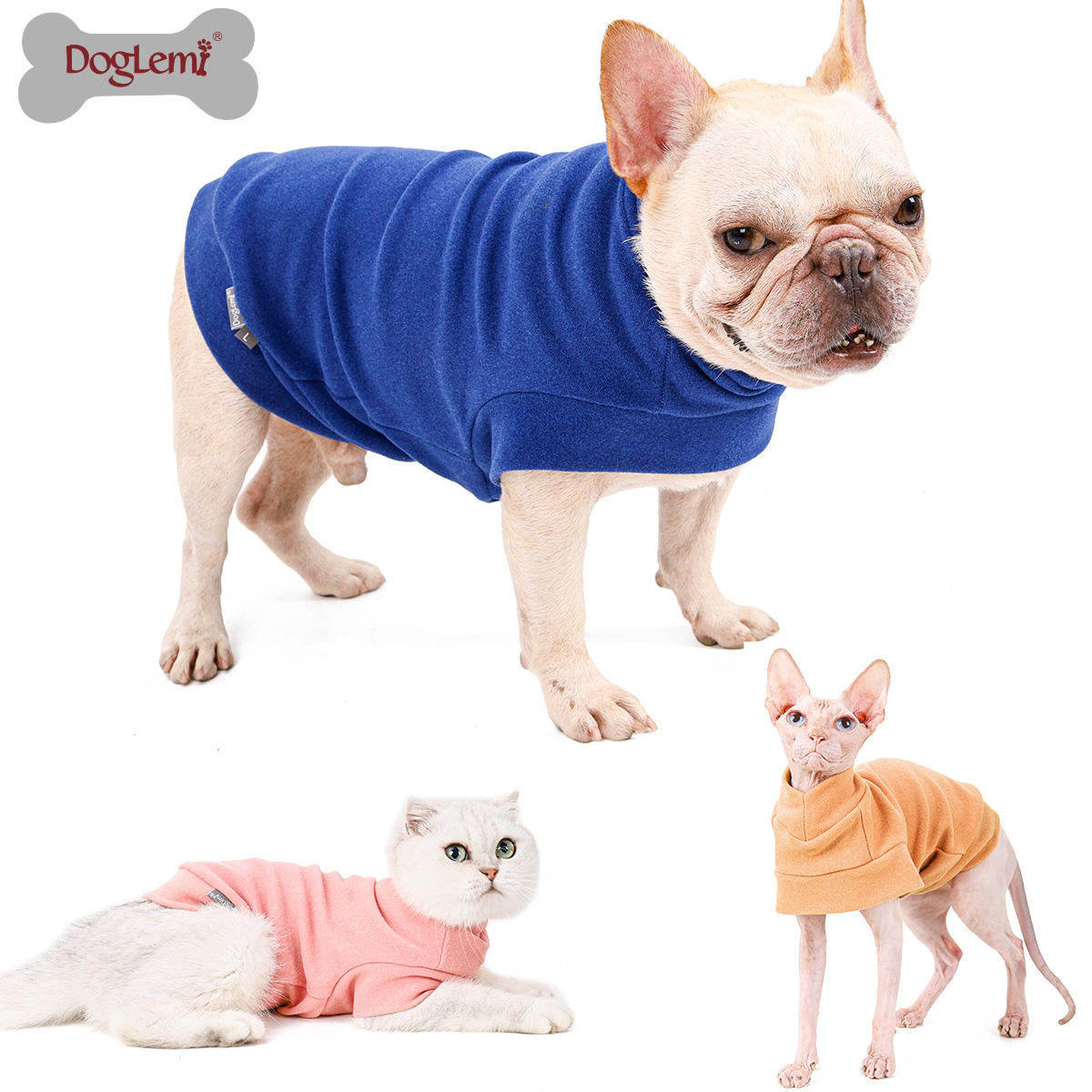 Dog sweaters clothes winter for pets ,Classic knitwear sweater fleece pet clothes coat