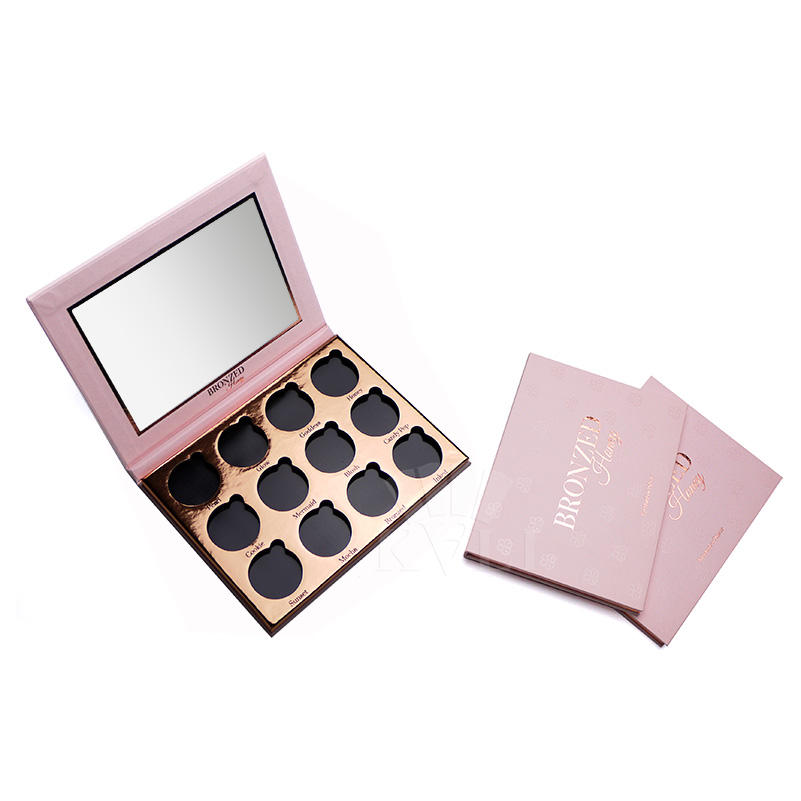 2020 popular makeup cosmetic custom private label empty eyeshadow palette