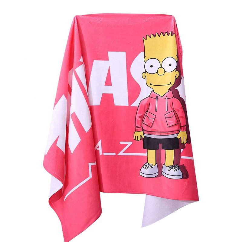 Wholesale Polyester cotton terry towels beach personalized digital printingcustomized beach towels quick dry