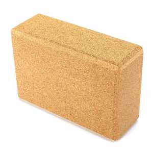 Eco Friendly Cork Black Yoga Bricks Block For Training