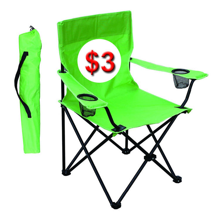 Wholesale China Easy-carrying OEM Outdoor Cheap Picnic Beach Camping Fishing Folding Chair with Armrest sillas plegables