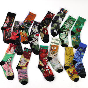 custom sublimation 3D print digital print cartoon tube man sock