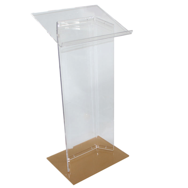 Church use new designed clear organic glass rostrum
