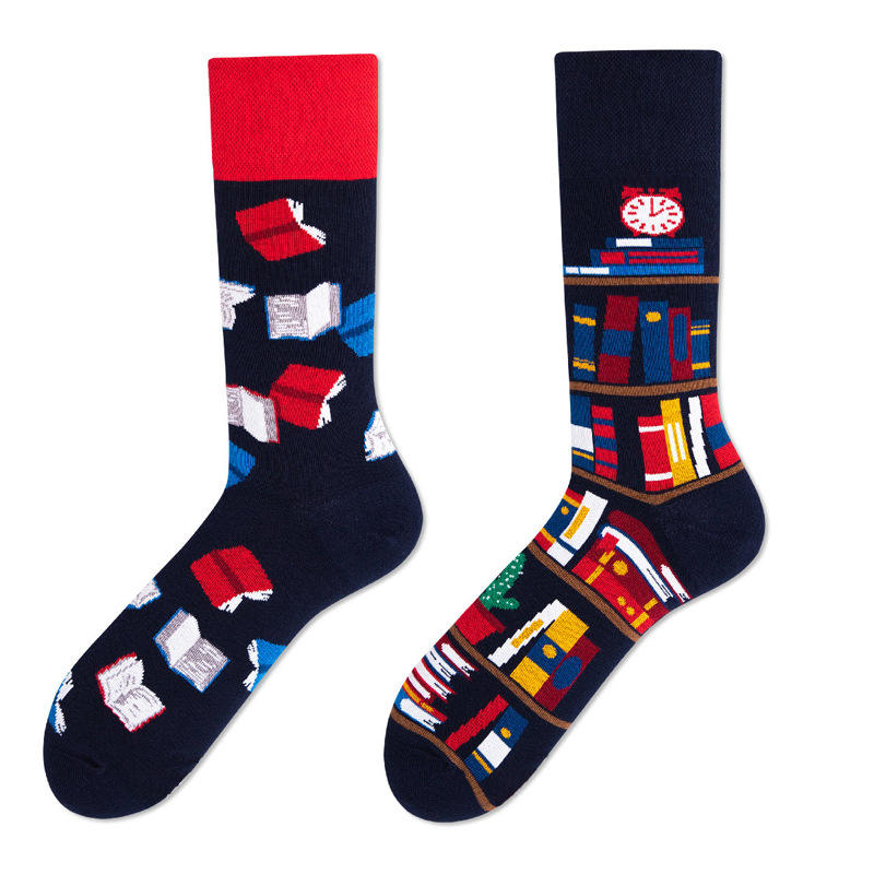 Wholesale good quality combed cotton custom low MOQ funny socks
