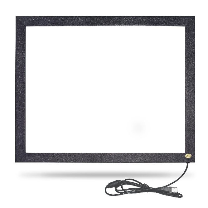15.6 inch ir multi touch screen frame diy infrarood touch screen overlay kit multi touch frame met glas voor Open frame Machine
