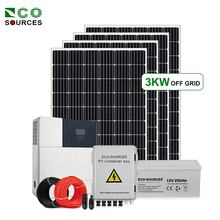 Eco-sources complete kit all in one inverter off grid 5000w 4000w 3000w generator solar power system home portable