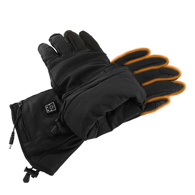 Custom Winter Outdoor Sports Battery Rechargeable Electric Heated Warm Ski Gloves