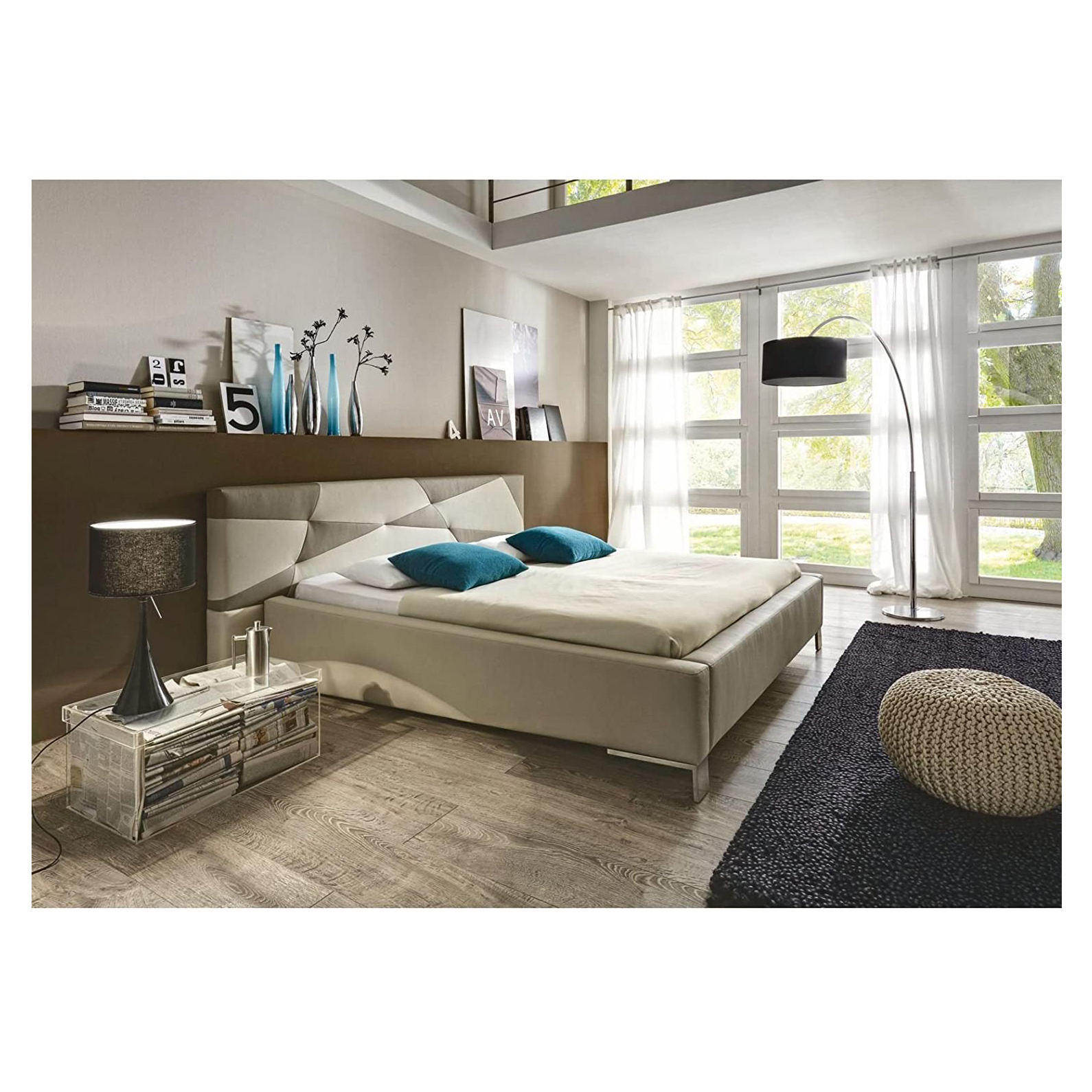 SinoMax XORA Design double bed 180 x 200 cm lying surface faux leather