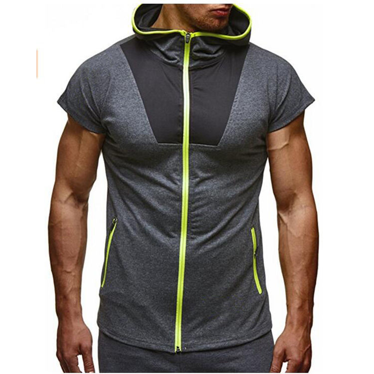 Casual Hoodie T Shirt With Hooded Hat Stylish Men Tee Shirt Clothing Tops