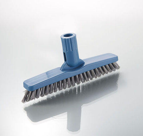 commercial tile & grout cleaning brush long bristle indoor broom