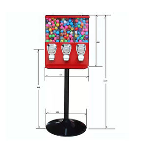 Hot sale Pink Triple Bulk Candy Vending Machine Bouncy Ball, Tomy Toys Vending Machine Token
