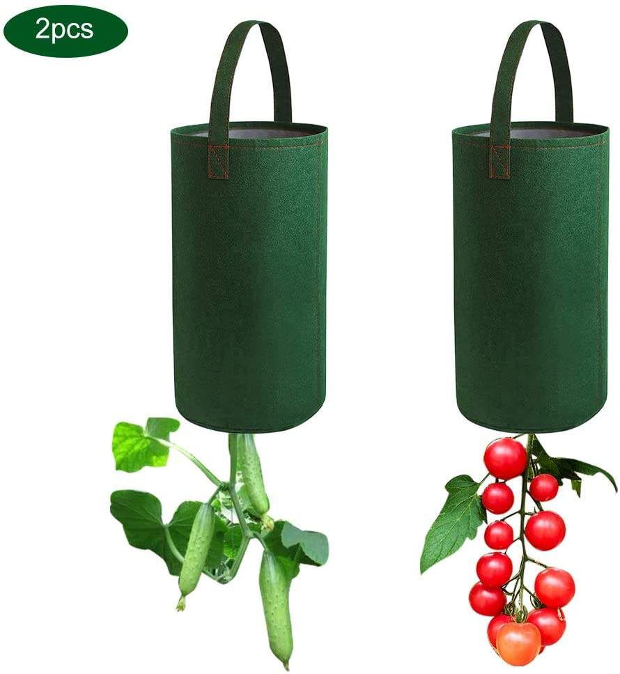Upside Down Tomato Planter Grow Bags Hanging and Vegetables Herb Plant Pots,2Pack