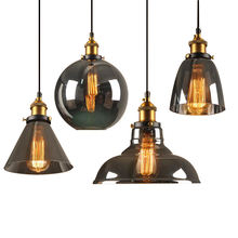 Creative Retro Ceiling Chandelier Lamp for Home Bar Vintage Glass Pendant Light Fixtures
