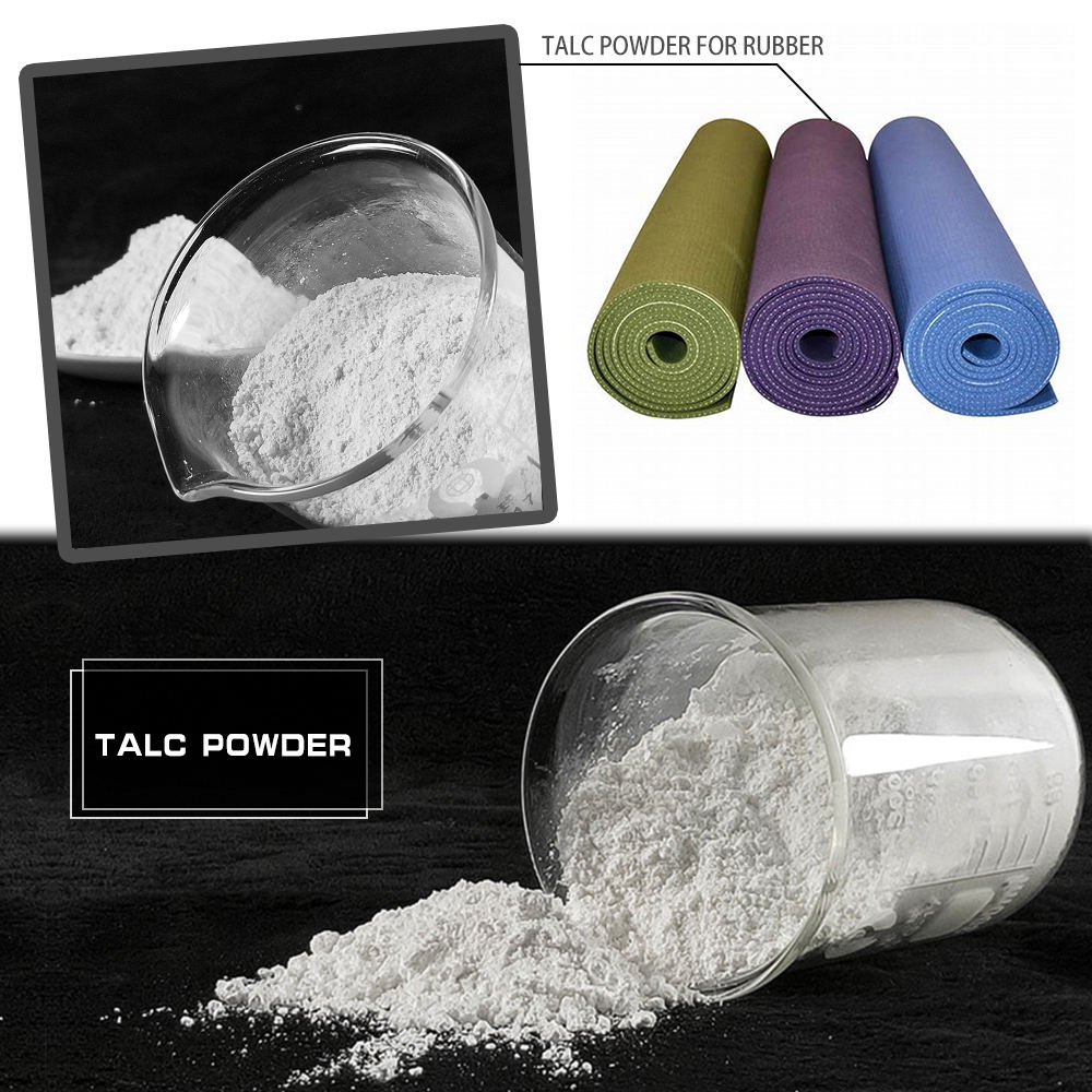 High quality good price asbestos free rubber grade talc powder