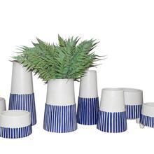 Stripes Ceramic Vases and Pots Home Decoration Wholesales