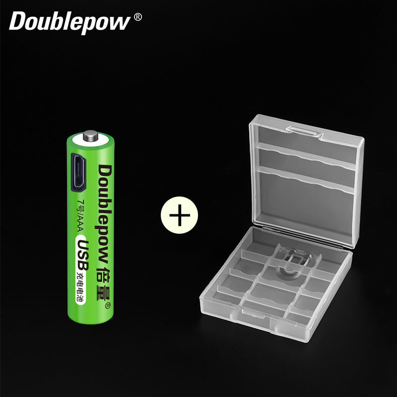 Long Cycle Life USB 1.2v AAA Battery NiMH 680mWh Rechargeable Batteries with led indicator